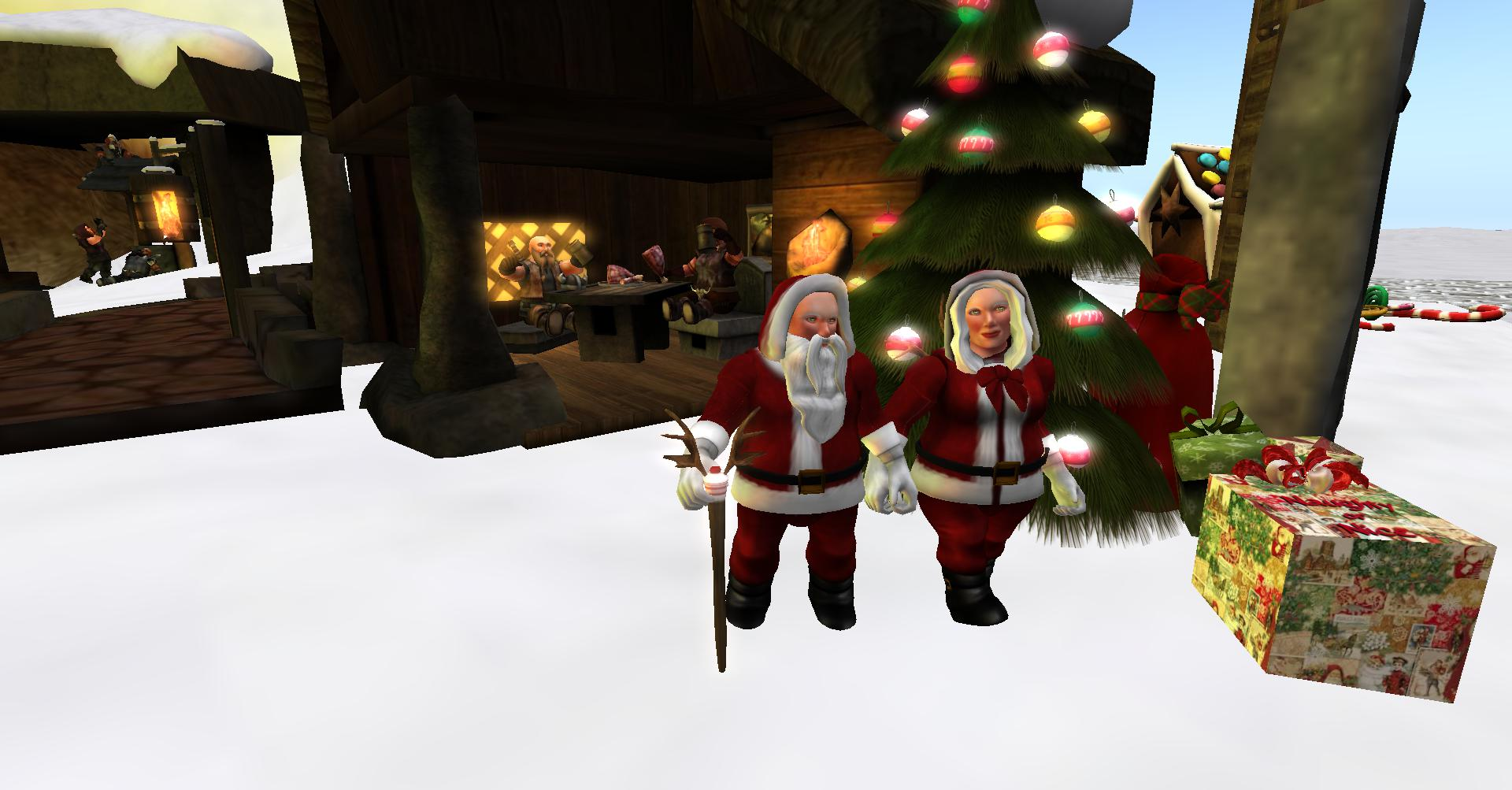 Kris Kringle and Mrs Kringle Dwarfins